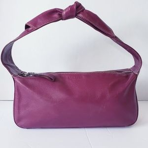 kate spade Vintage Plum Leather Bow Strap Handbag